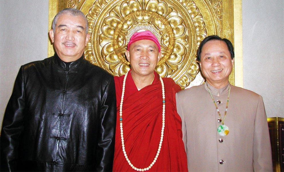 2003年‧悟覺妙天禪師與心道法師、密宗黃教登巴法王暢談弘法利生