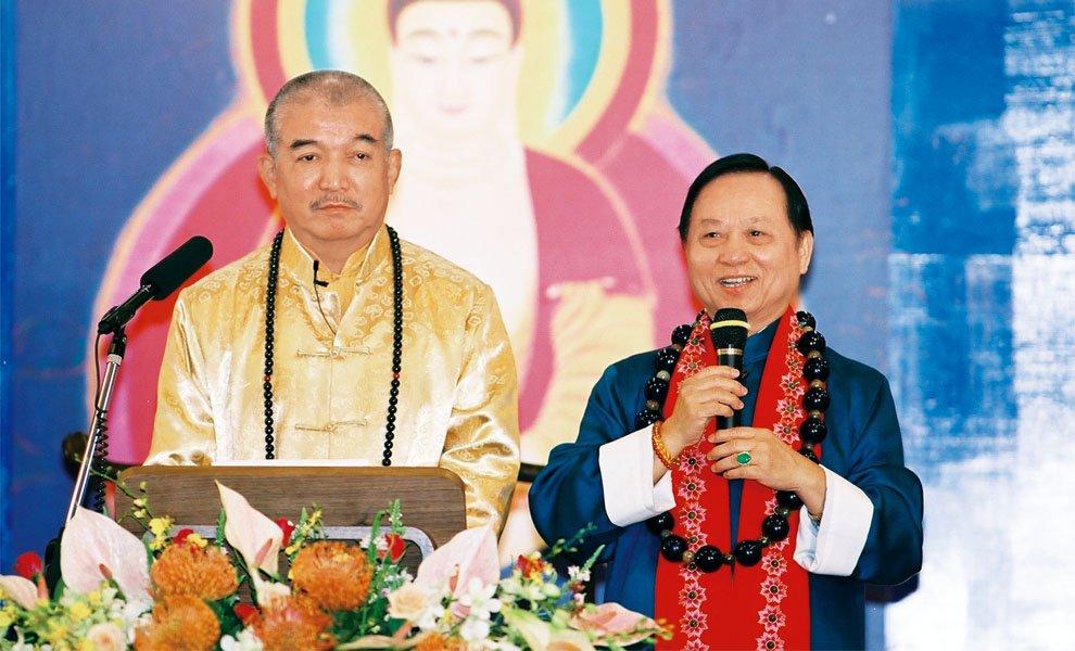2003年‧西藏密宗黃教登巴法王至會台北大禪堂為同修開示。
