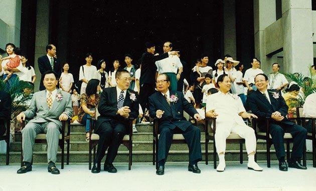 1996年‧「高雄敬師教孝親子園遊會」,悟覺妙天禪師親自出席宣揚印心禪法